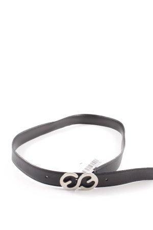 Escada Sport Cintura di pelle nero-argento elegante