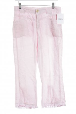 Escada Sport Pantalon en lin rose clair