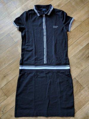 Escada Sport Vestido tipo polo negro Algodón