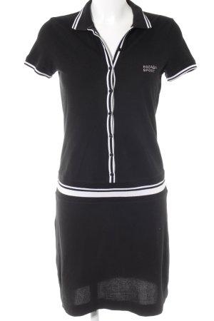 Escada Sport Polokleid schwarz-weiß Casual-Look