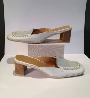 Escada Sport Platform High-Heeled Sandal white leather