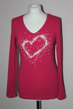 Escada Sport Long Shirt raspberry-red-magenta polyamide