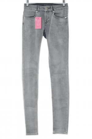 Escada Sport Skinny Jeans hellgrau Used-Optik