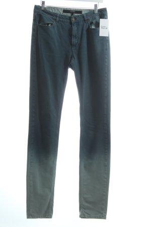 Escada Sport Skinny Jeans türkis-hellblau Farbverlauf Casual-Look