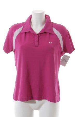 Escada Sport Sportshirt violett-weiß sportlicher Stil
