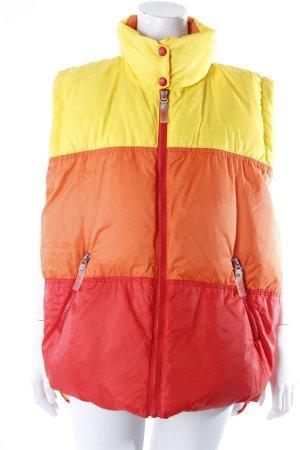 Escada Sport Steppweste gestreift rot-orange-gelb