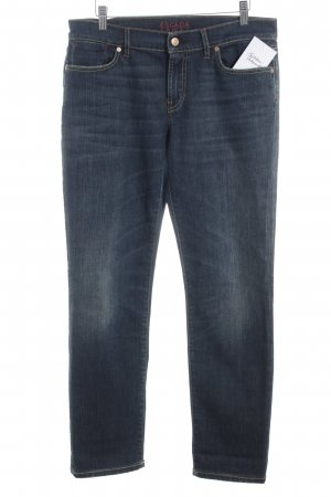 Escada Sport Straight-Leg Jeans blau Washed-Optik