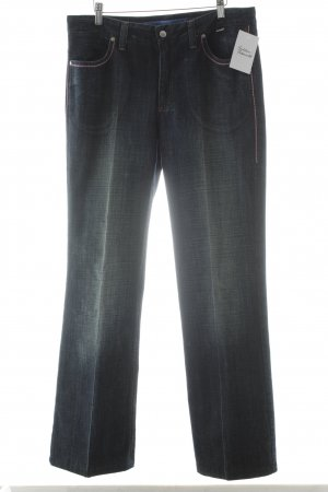 Escada Sport Straight-Leg Jeans dunkelblau-rosa Casual-Look
