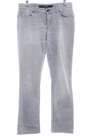 Escada Sport Straight-Leg Jeans hellgrau Bleached-Optik