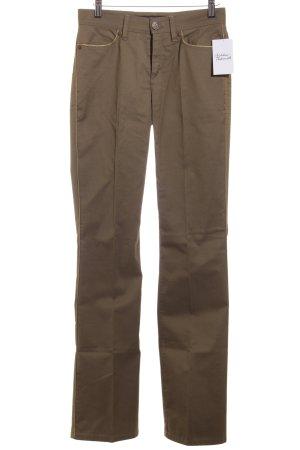 Escada Sport Straight-Leg Jeans khaki-olivgrün Boyfriend-Look