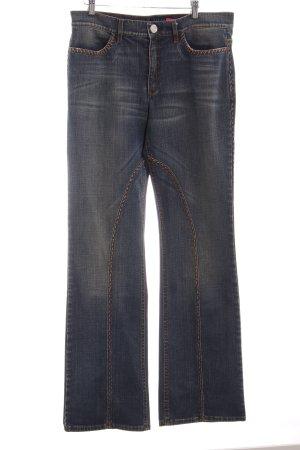 Escada Sport Straight-Leg Jeans stahlblau Casual-Look