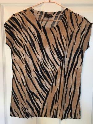 Escada Sport Short Sleeve Sweater camel-black viscose