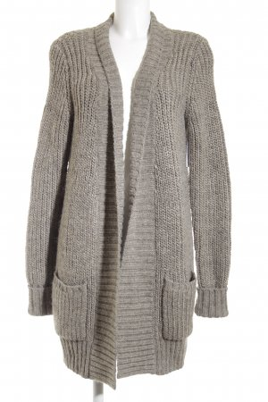 Escada Sport Cardigan grey brown weave pattern fluffy