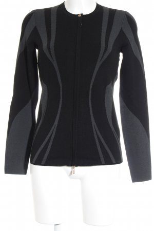 Escada Sport Strickjacke schwarz-grau abstraktes Muster Business-Look