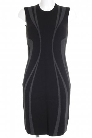 Escada Sport Strickkleid schwarz-grau abstraktes Muster Business-Look