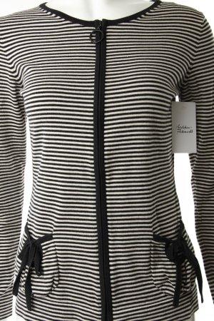 Escada Sport Strickweste creme-schwarz Streifenmuster schlichter Stil