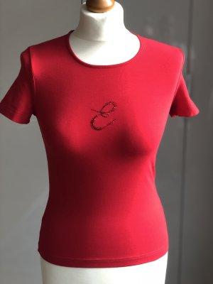 Escada Sport T-Shirt Gr. XS/S rot Strass