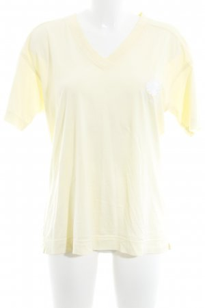 Escada Sport T-Shirt hellgelb Casual-Look