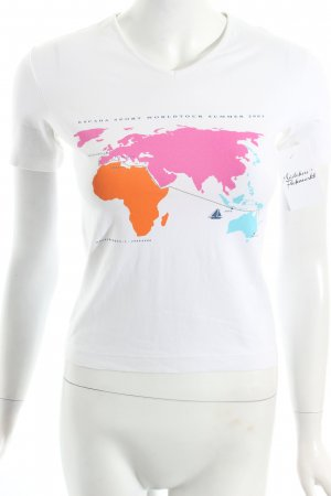 Escada Sport T-Shirt weiß-pink Casual-Look