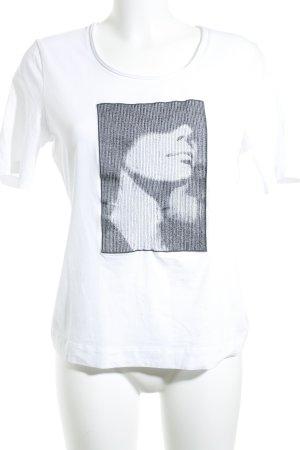 Escada Sport T-Shirt weiß-schwarz Casual-Look