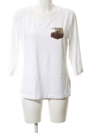 Escada Sport U-Boot-Shirt weiß Casual-Look