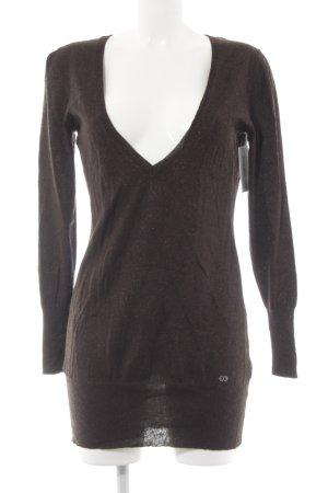 Escada Sport V-Ausschnitt-Shirt dunkelbraun Casual-Look