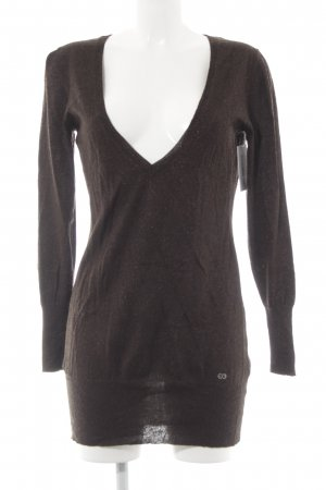 Escada Sport V-Neck Shirt dark brown casual look