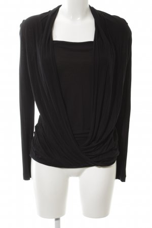 Escada Sport Wraparound Shirt black casual look