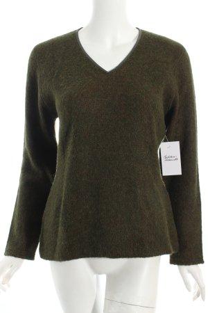 Escada Sport Jersey de lana verde oscuro-naranja look casual
