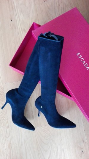 Escada Stretch Boots black leather