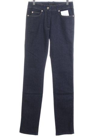 Escada Straight-Leg Jeans dunkelblau extravagante Knöpfe