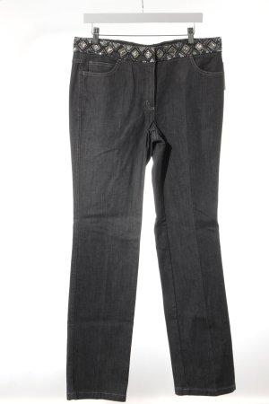 Escada Straight-Leg Jeans grau Elegant