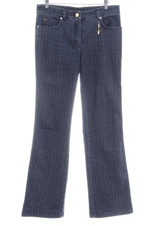 Escada Straight-Leg Jeans graublau Streifenmuster Casual-Look