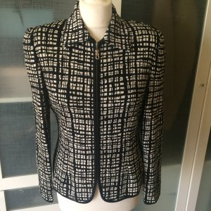 Escada Knitted Blazer black-white wool