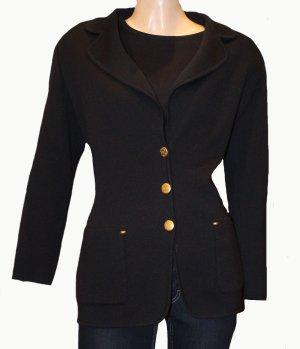 Escada Blazer en maille tricotée noir laine vierge