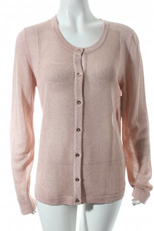 Escada Strick Cardigan altrosa-goldfarben meliert Casual-Look