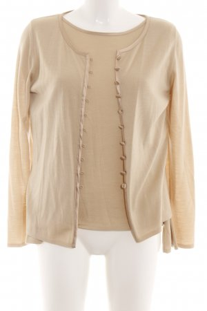 Escada Knitted Twin Set nude casual look