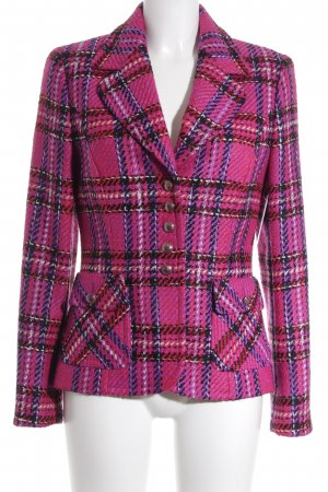 Escada Strickblazer Karomuster Brit-Look