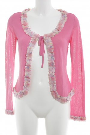 Escada Strickjacke pink extravaganter Stil