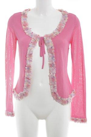 Escada Veste en tricot rose style extravagant