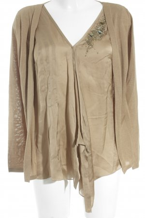 Escada Strickjacke sandbraun Casual-Look