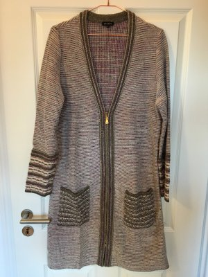 Escada Manteau en tricot multicolore