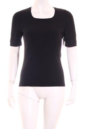 Escada Strickshirt schwarz minimalistischer Stil