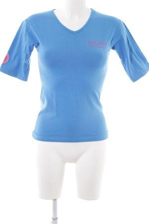 Escada T-Shirt blau sportlicher Stil