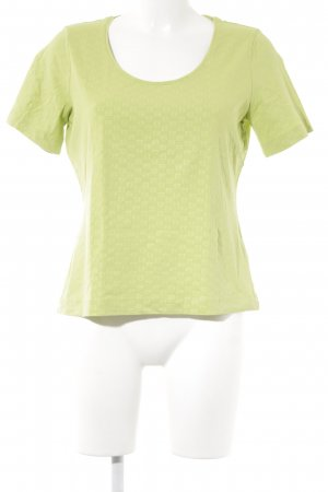 Escada T-Shirt grün abstraktes Muster Casual-Look