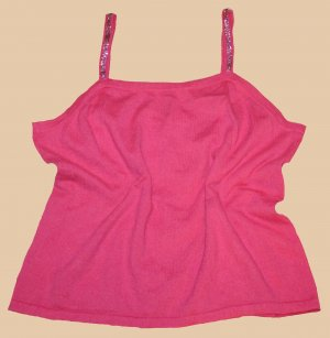 ESCADA TOP in PINK Himbeere 100% Kaschmir Strass Gr. 44
