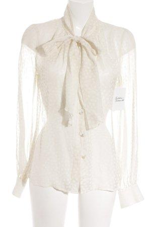Escada Transparenz-Bluse creme Punktemuster Romantik-Look