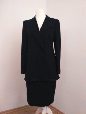 Escada Vintage Kostüm schwarz 40 reine Schurwolle