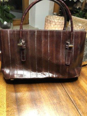 Escada Carry Bag grey lilac-brown violet leather