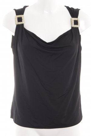 Escada Wasserfalltop schwarz Business-Look